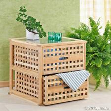 Couchtisch Beistelltisch Glasplatte Cube Walnuss Holz