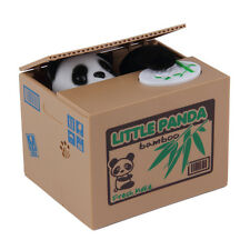 Lovely Kids Automated Panda Steal Coin Bank Money Saving Box Pot Case Gifts MC