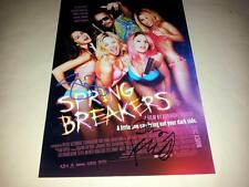 "SPRING BREAKERS CAST X2 PP SIGNED 12""X8"" POSTER SELENA GOMEZ JAMES FRANCO"