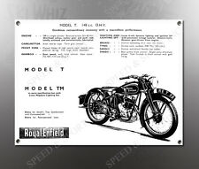 VINTAGE ROYAL ENFIELD 1938 MODEL T 148cc IMAGE BANNER NOS IMAGE REPRODUCTION