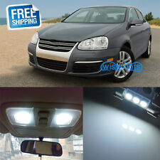 14Pcs Pure White LED Interior Light Package Kit For Volkswagen Jetta MKV MK5