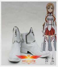 Hot Sword Art Online Asuna Yuuki cosplay Boots Shoes Custom Made any size