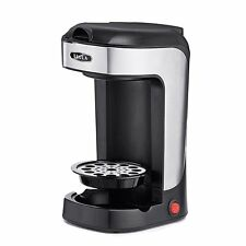 BELLA One Scoop Single Serve Personal Coffee and Tea Maker, color stainless stee