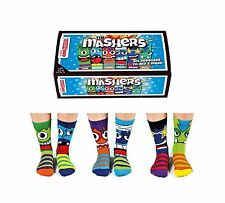 United Oddsocks 12 - 6 UK Conjunto de 6 caras divertidas Personaje Calcetines Impares Ricers Chicos