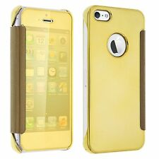 Etui Housse Coque Clear View Cover miroir Doré Gold Apple IPHONE 6 Iphone 6S