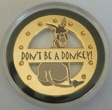 DON'T BE A DONKEY Spinner Poker Card Guard Cover Protector