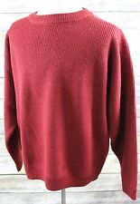 Vintage Patagonia Crewneck Thick Rib-Knit 100% Wool Pullover Sweater MENS XL red