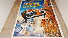 OLIVER ET COMPAGNIE  ! affiche cinema  animation bd  disney