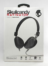 Skullcandy Black Navigator OnEar Foldable Headphones with Mic S5AVDM161.