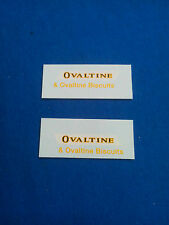 (Tr 118) DINKY TOYS 481 BEDFORD OVALTINE decalcomanie transfer