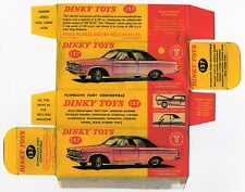 Boîte copie repro Dinky Toys 137 plymouth fury convertible ( reproduction box )