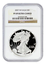 2007-W 1 Oz Proof American Silver Eagle NGC PF69 UC SKU16654