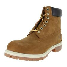 "Timberland Icon 6"" Premium Boots Wide 72066 W Rust Nubuck Mens US size 8, UK 7.5"