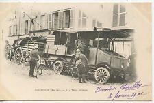 CARTE POSTALE / MANOEUVRE DE L'EST 1901 / TRAIN MILITAIRE