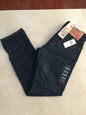 NWT LEVI'S 504 29x32 Regular Straight Stretch Fit Dark Blue Jeans $88