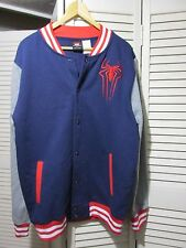 Men M Marvel Comics The Amazing Spiderman Snap Front Jacket