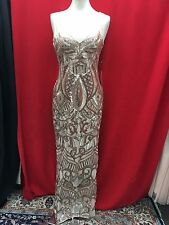 ADRIANNA PAPELL LONG BEADED DRESS/NEW WITH TAG/RETAIL$260/SIZE 12/