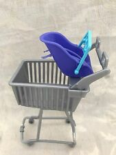 Barbie Krissy Doll Happy Family Baby Store Shopping Cart With Baby Seat HTF