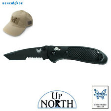 Benchmade 553SBK Griptilian AXIS Knife 154cm Black Serrated TANTO Blade FREE HAT