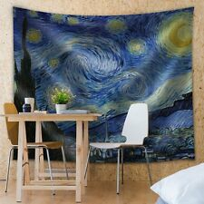 Starry Night by Vincent van Gogh - Fabric Tapestry- 51x60 inches
