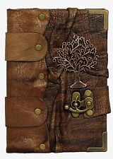 Middle Tree Pendant Brown Handmade Leather Journal / Notebook Sketchbooks Dairy