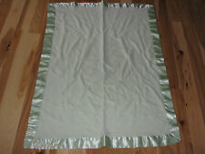 Springmaid Green Duck Baby Blanket Embroidered Satin Trim Bamboo
