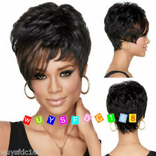 2016 Fashion Women's ladies short black mixed Straight Natural Hair wigs