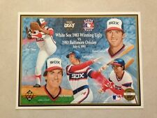 1983 Upper Deck Winning Ugly Chicago White Sox vs. Baltimore Orioles Poster New