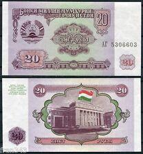 TAJIKISTAN  20 Rubles Rublos 1994 Pick 4   SC  / UNC