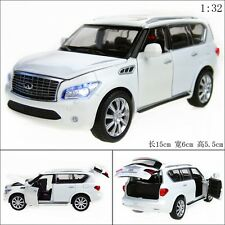 1:32 Infiniti QX56 Alloy Diecast Car Model Toy Vehicle Sound&Light White 2401