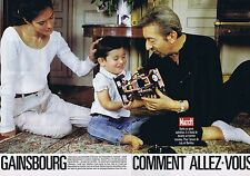 COUPURE DE PRESSE CLIPPING 1989 SERGE GAINSBOURG - LULU - BAMBOU (5 pages)