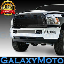 10-12 Dodge RAM 2500+3500+HD Black Replacement Rivet Studded+Mesh Grille+Shell