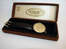 ANTIQUE MECHANICAL HAND-WINDING UNIVERSAL GENEVE GENTS WRISTWATCH & BOX GC WORKS