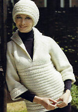 LADIES KNITTED OVERBLOUSE & HAT IN PURE WOOL KNITTING PATTERN  32/40    (540)