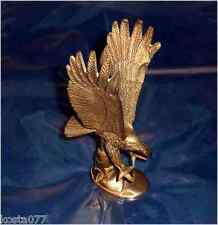 "Vintage Solid Brass Eagle - Heavy Paper weight, 7"" tall"