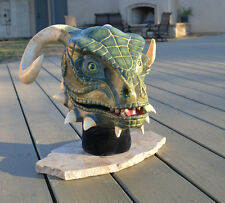 Skyrim inspired Argonian Mask Custom Painted Costume