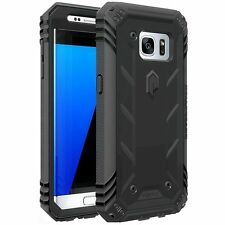 Poetic Revolution Hybrid Case w/ Screen Protector for Samsung Galaxy S7 Black
