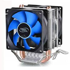 CPU COOL COOLING HEATSINK PC COOLER DUAL FAN SUPPORT intel LGA775/1155/1156/1150