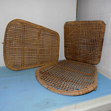 Wood and Wicker Folding  Canoe Seats one with seat back