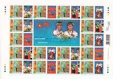 Hong Kong 2004 Olympics Table Tennis Silver Medal block of 16 MNH