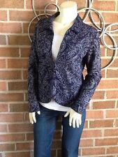 NWT Chico's Travelers Collection Textured Foil 'LILIA' Jacket Cardigan Size 1