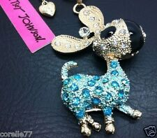 BIG EAR DONKEY BURRO PERSONALITY NECKLACE & CHARM CRYSTAL ALLOY BLING