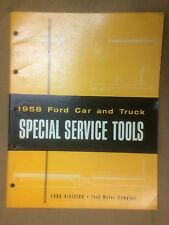 "1957,1958 Ford Passenger Car and Truck Special Service Tools, supercharged ""F"""