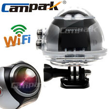 Campark 16MP HD 3K /30fps 360° 3D VR Panoramic Action Digital Camera +VR Glasses