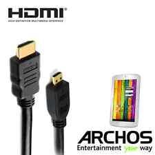 Archos 101 Xenon, 70b Titanium, 80 Cesium HDMI Micro HDMI TV Monitor 2m Cable