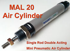 NEW MAL 20mm x 100mm Single Rod Double Acting Mini Pneumatic Air Cylinder 20x100