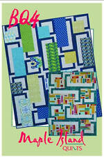 BQ 4 Quilt Pattern Maple Island Quilts DIY Quilting Sewing 2 Layouts, 5 Sizes
