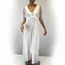 NEW NWT Nataya Plus Size Vintage Titanic Lace Bridal White Wedding Dress 1X
