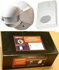 X2F - 110° PIR MOTION SENSOR TRANSMITTER WITH CHIME / ALERT ALARM RECEIVER