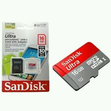 16GB SanDisk Micro SD SDHC Ultra TF Memory Card UHS-1 CLASS 10 w/ Adaptor